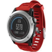 Garmin® Fenix™ 3 Multisport Training GPS Watch, Silver/Red