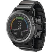 Garmin® Fenix™ 3 Multisport Training GPS Watch With Metal Band, Sapphire