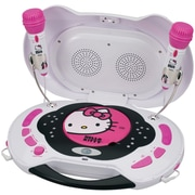 Hello Kitty® KT2003MBY CD Karaoke System/CD Player, White/Pink
