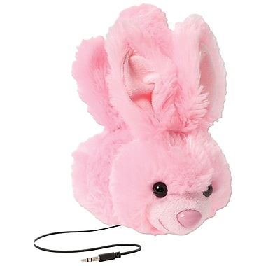 Retrak Animalz Retractable Over-The-Head Volume Limiting Children's Stereo Headphone, Bunny (EMTAUDFBNY)