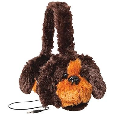 Retrak Animalz Retractable Over-The-Head Volume Limiting Children's Stereo Headphone, Dog (EMTAUDFDOG)
