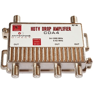 Antennas Direct® CDA 4-Way Output TV/CATV Distribution Amplifier