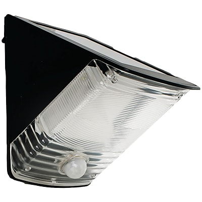 Maxsa® Solar Powered Motion Activated Wedge Light; Black