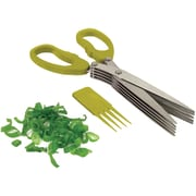 Starfrit® Stainless Steel Multi Blade Herb Scissor; Green
