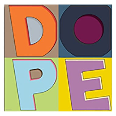 Maxwell Dickson ''Dope C'' Textual Art on Canvas; 36'' H x 36'' W