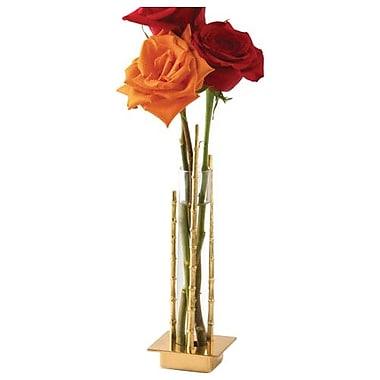 Global Views Single Bamboo Vial Holder Vase; Brass