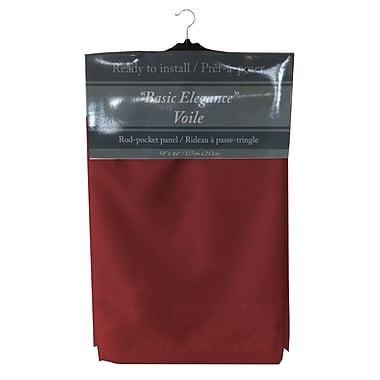 Maison Condelle – Rideau à passe-tringle « Basic Elegance », 54 x 84 po, rouge