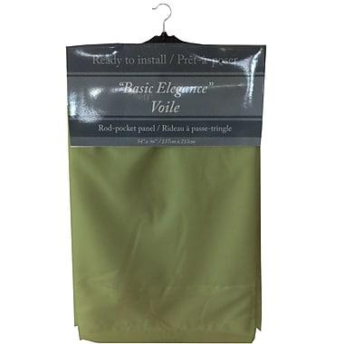 Maison Condelle – Rideau à passe-tringle « Basic Elegance », 54 x 96 po, lime