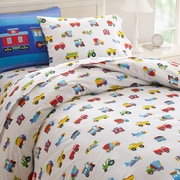Wildkin Olive Kids Trains, Planes and Trucks Duvet Cover; Twin