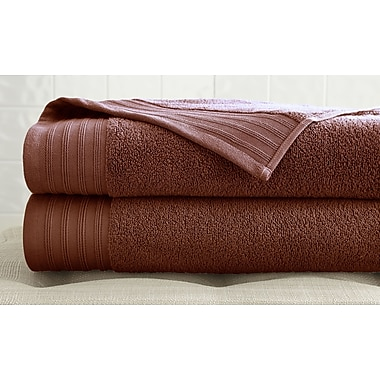 Colonial Textiles 2 Piece Bath Towel Set; Cinnamon