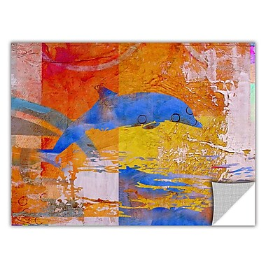 ArtWall ArtApeelz 'Dolphin' by Greg Simanson Graphic Art Removable Wall Decal