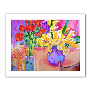 ArtWall Summer Flowers' by Susi Franco Painting Print on Rolled Canvas; 36'' H x 48'' W