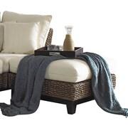 Panama Jack Sunroom Sanibel Ottoman w/ Cushion; Beach House