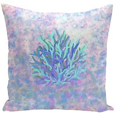 E By Design Decorative Coral Throw Pillow; 18'' H x 18'' W