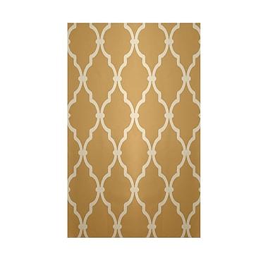 E By Design Geometric Tan Indoor/Outdoor Area Rug; 2' x 3'