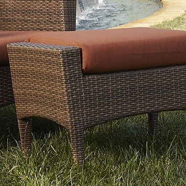 Panama Jack Key Biscayne Ottoman w/ Cushion; Bay Brown