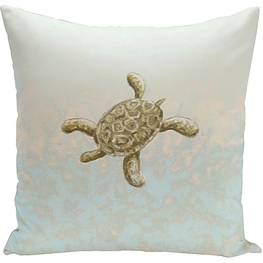 E By Design Decorative Tortuga Water Throw Pillow; 18'' H x 18'' W
