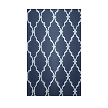 E By Design Geometric Navy Blue Indoor/Outdoor Area Rug; 2' x 3'