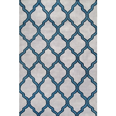 nuLOOM Nepalese Milton Trellis Hand Knotted Gray Area Rug; 9' x 12'