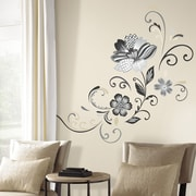 Room Mates Deco 22 Piece Flower Scroll Wall Decal