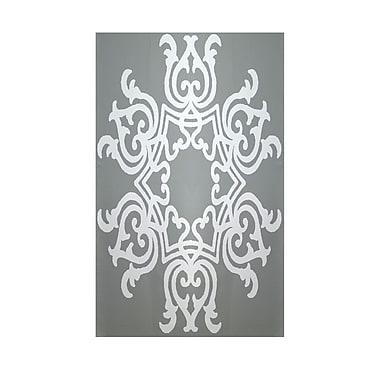 E By Design Geometric Grey Indoor/Outdoor Area Rug; 2' x 3'