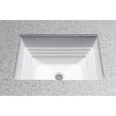 Toto Promenade Vitreous China Rectangular Undermount Bathroom Sink w/ Overflow; Colonial White
