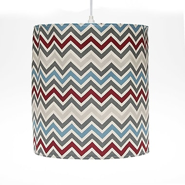 Sweet Potato by Glenna Jean Happy Trails Hanging 14'' Fabric Drum Pendant Shade