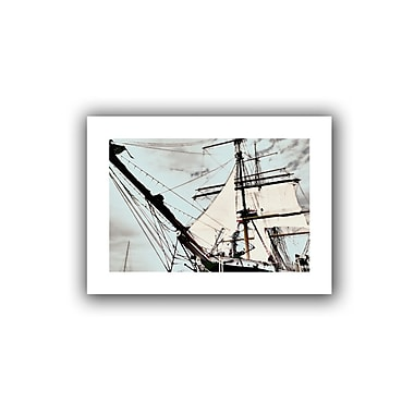 ArtWall Sailing on Star of India I' by Linda Parker Graphic Art on Rolled Canvas; 28'' H x 20'' W