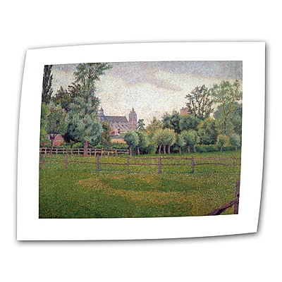 ArtWall Church at Gisors by Camille Pissarro Print of Painting on Rolled Canvas; 24'' H x 32'' W