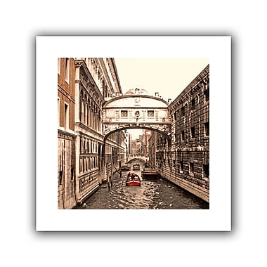 ArtWall Venice Bridge of Signs' by Linda Parker Photographic Print on Rolled Canvas; 28'' H x 28'' W