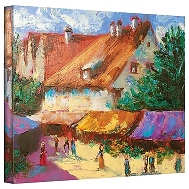 ArtWall 'Rhone Village Market' by Susi Franco Painting Print on Wrapped Canvas; 26'' H x 32'' W