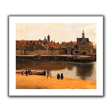 ArtWall View of Delft' by Johannes Vermeer Painting Print on Rolled Canvas; 18'' H x 22'' W