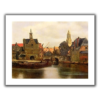 ArtWall View of Delft II' by Johannes Vermeer Painting Print on Rolled Canvas; 18'' H x 22'' W
