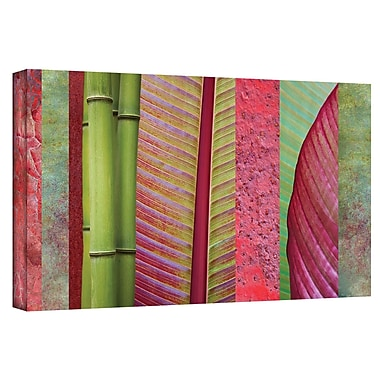 ArtWall 'Red Green' by Cora Niele Gallery Photographic Print on Wrapped Canvas; 12'' H x 24'' W