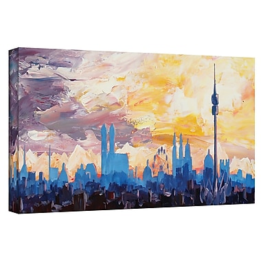 ArtWall 'Muc Sky' by Martina and Markus Bleichner Painting Print on Wrapped Canvas; 8'' H x 24'' W