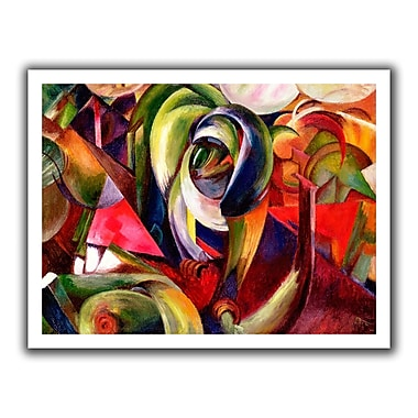 ArtWall Mandrill' by Franz Marc Graphic Art on Rolled Canvas; 40'' H x 52'' W