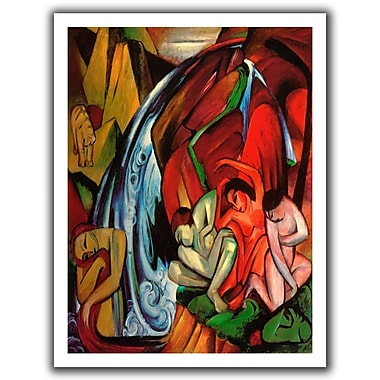 ArtWall The Waterfall' by Franz Marc Painting Print on Rolled Canvas; 28'' H x 22'' W