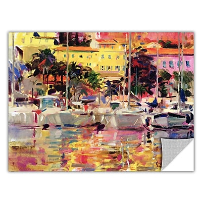 ArtWall ArtApeelz 'Golden Harbour Vista' by Peter Graham Painting Print Removable Wall Decal