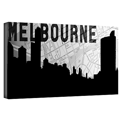 ArtWall 'Melbourne' by Art Sandcraft Graphic Art on Wrapped Canvas; 24'' H x 48'' W