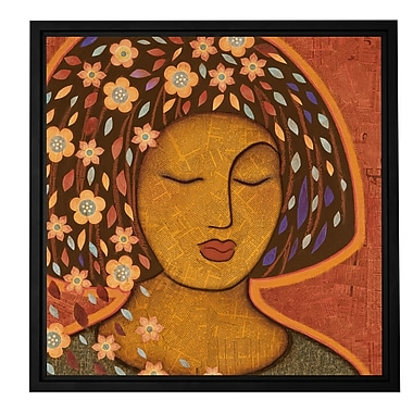 ArtWall 'Kali' by Gloria Rothrock Framed Painting Print on Wrapped Canvas; 14'' H x 14'' W