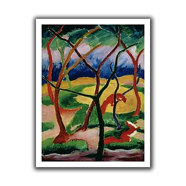 ArtWall Weasels Playing' by Franz Marc Painting Print on Rolled Canvas; 36'' H x 28'' W