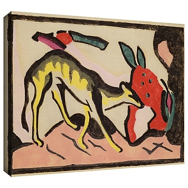 ArtWall 'Faultier' by Franz Marc Painting Print on Wrapped Canvas; 18'' H x 24'' W