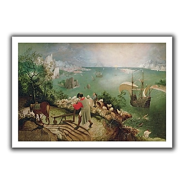 ArtWall Landscape w/ the Fall of Icarus' by Pieter Bruegel Painting Print on Rolled Canvas