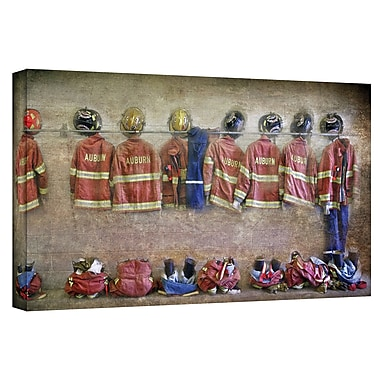 ArtWall Auburn Fire Department' by Antonio Raggio Photographic Print on Canvas; 12'' H x 24'' W