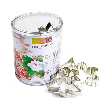ScrapCooking Stainless Steel Cutters, Christmas, Box of 5