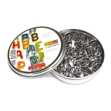 ScrapCooking Stainless Steel Cutters, Alphabet, Set of 26