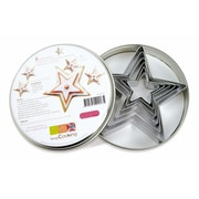 ScrapCooking Stainless Steel Cutters, Stars, Set of 6