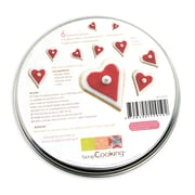 ScrapCooking Stainless Steel Cutters, Hearts, Set of 6