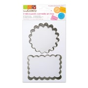 ScrapCooking Stainless Steel Cutters, Cookie, 2/Pack