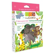 ScrapCooking Stainless Steel Cutters, Jungle Animals, Box of 4